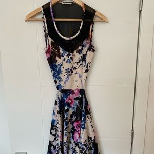 Open back colorful dress